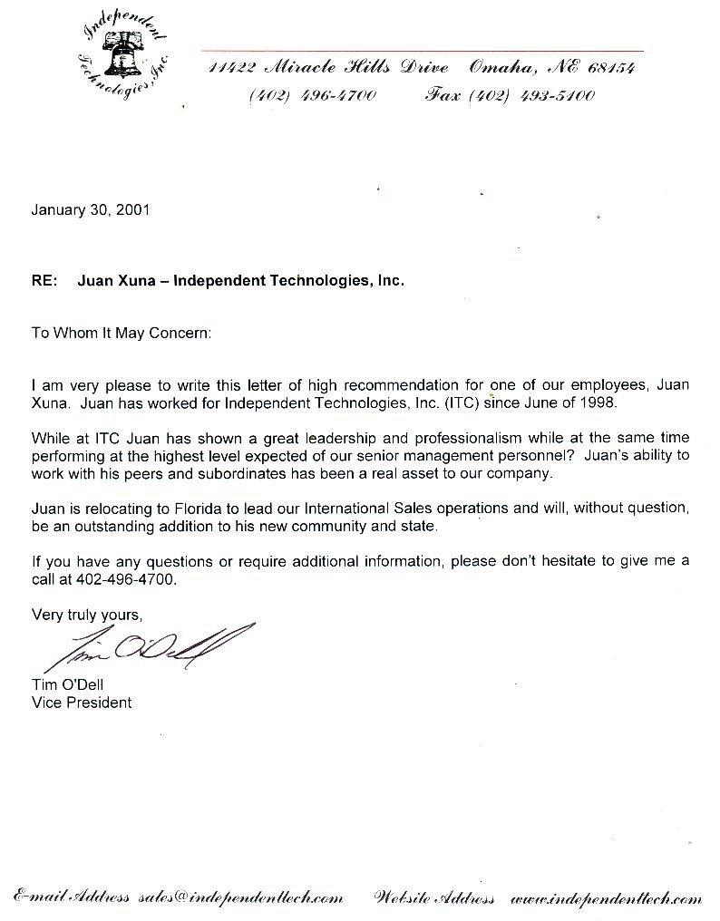 Sample Letter Of Recommendation For Residency Residency Letter Of